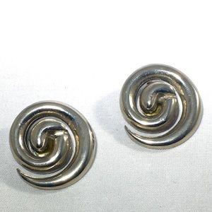 Vintage Gianni Versace Spiral Earrings
